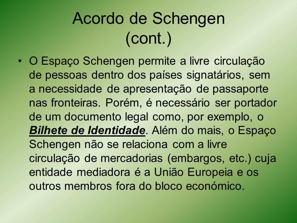 Acordo de Schengen (cont.)