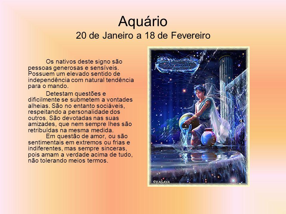 Aquário 20 de Janeiro a 18 de Fevereiro