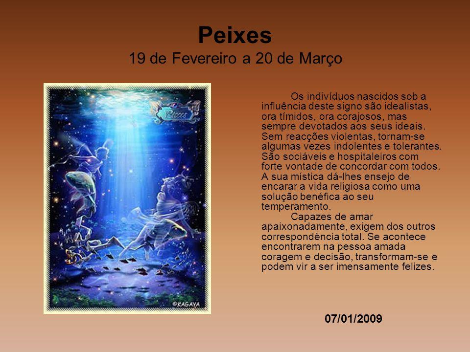 Peixes 19 de Fevereiro a 20 de Março