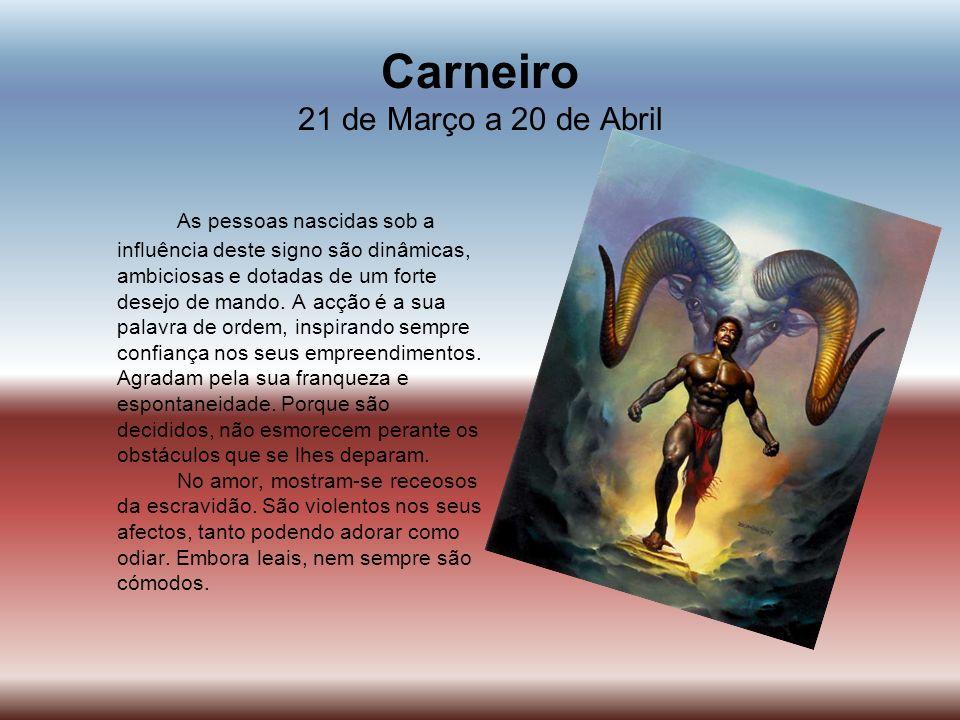 Carneiro 21 de Março a 20 de Abril