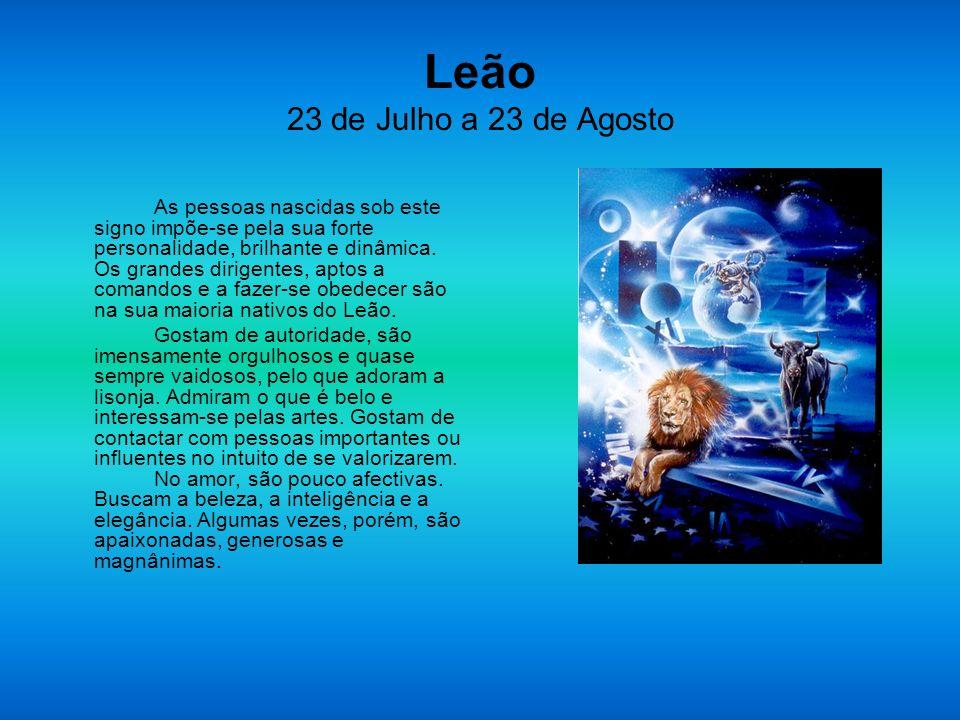 Leão 23 de Julho a 23 de Agosto