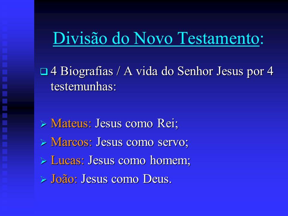 Divisão do Novo Testamento: