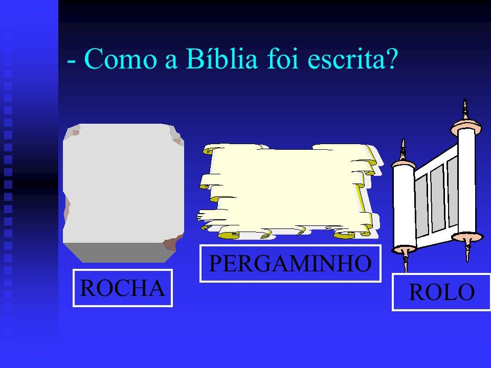 - Como a Bíblia foi escrita