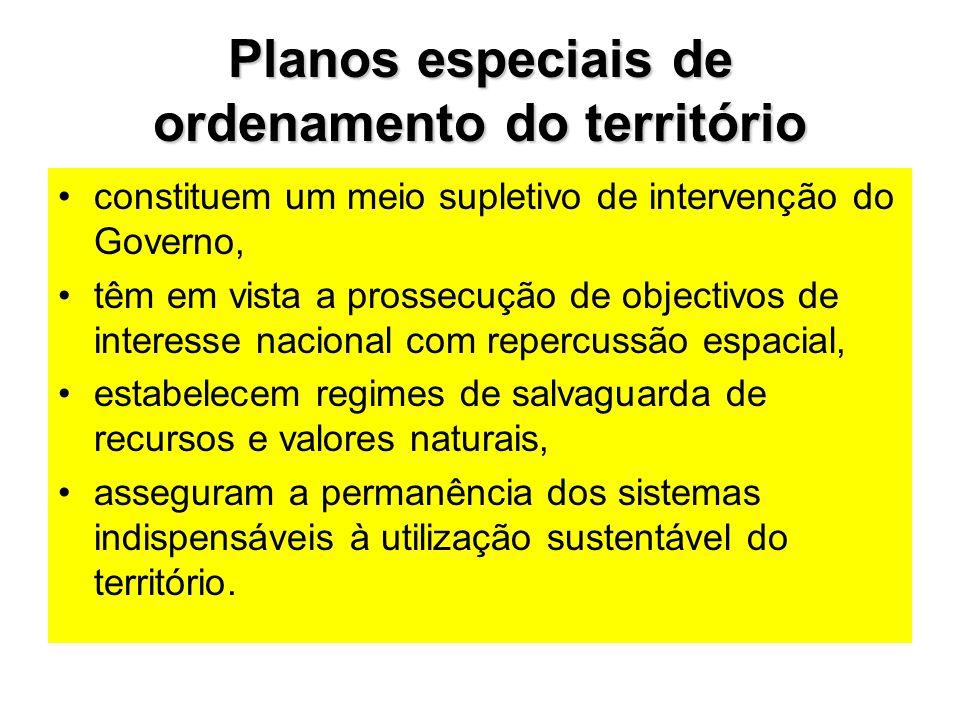Planos especiais de ordenamento do território