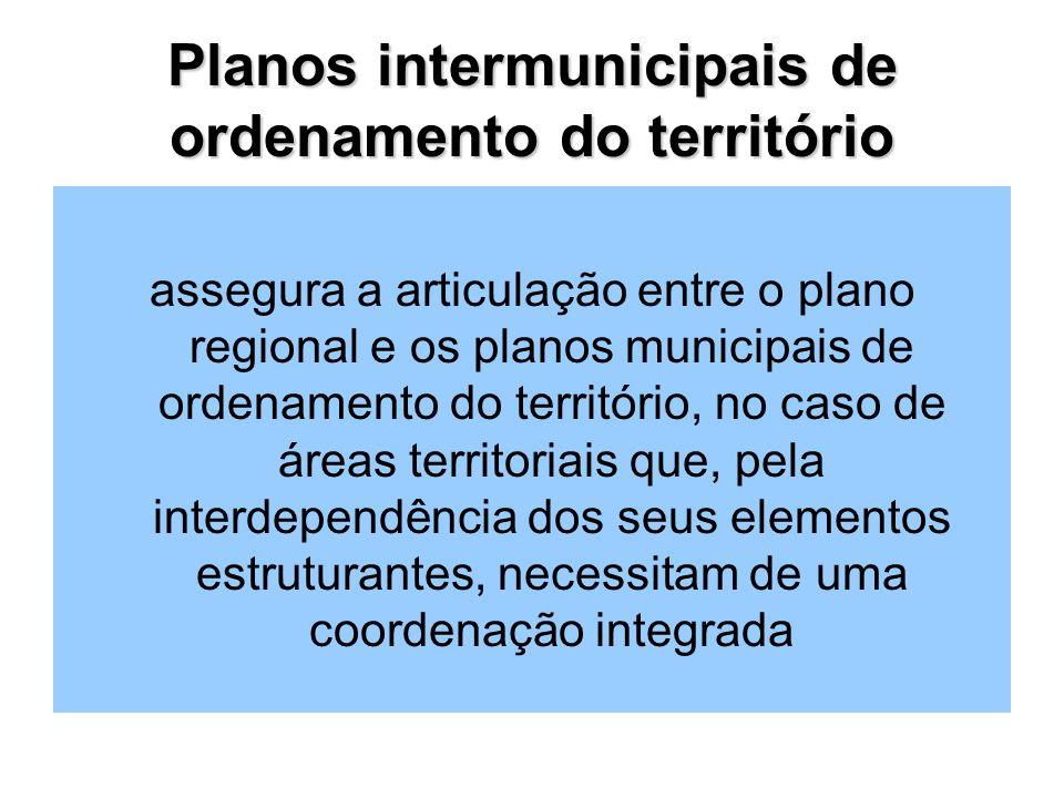 Planos intermunicipais de ordenamento do território