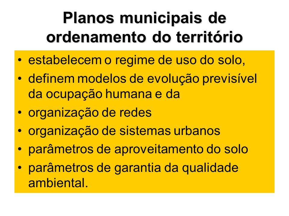 Planos municipais de ordenamento do território