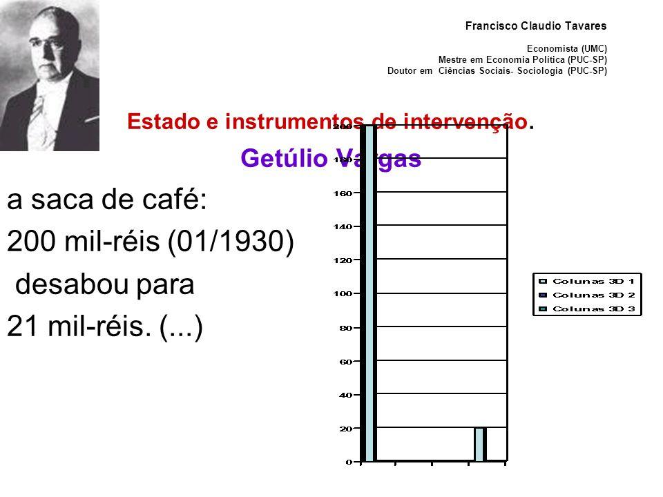 Estado e instrumentos de intervenção.