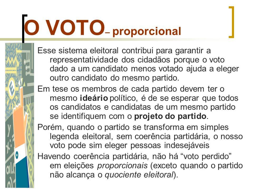 O VOTO– proporcional
