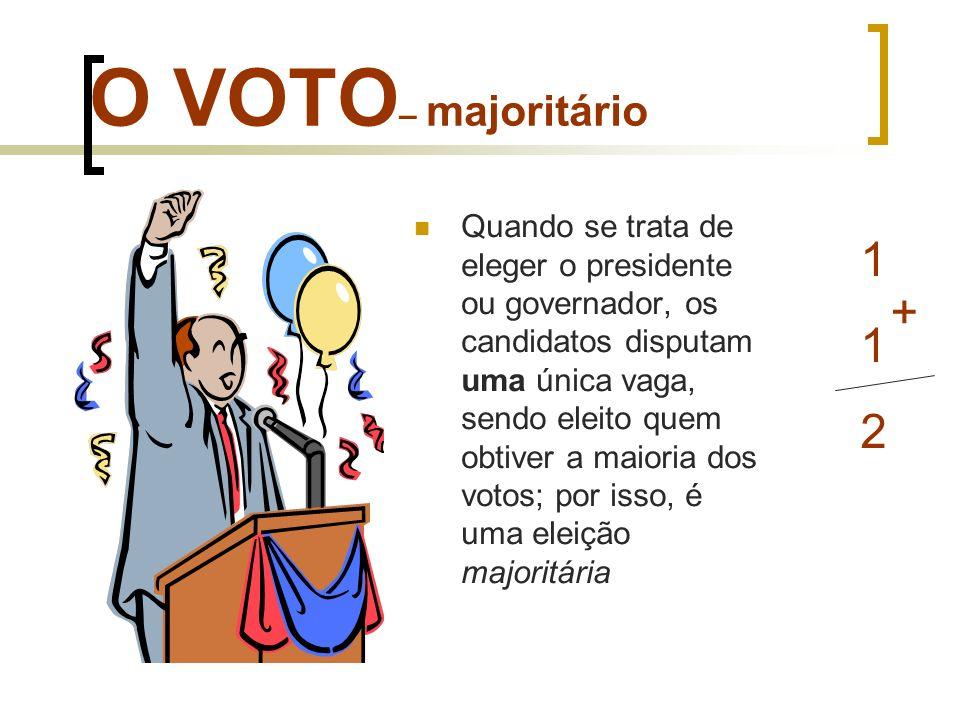 O VOTO– majoritário