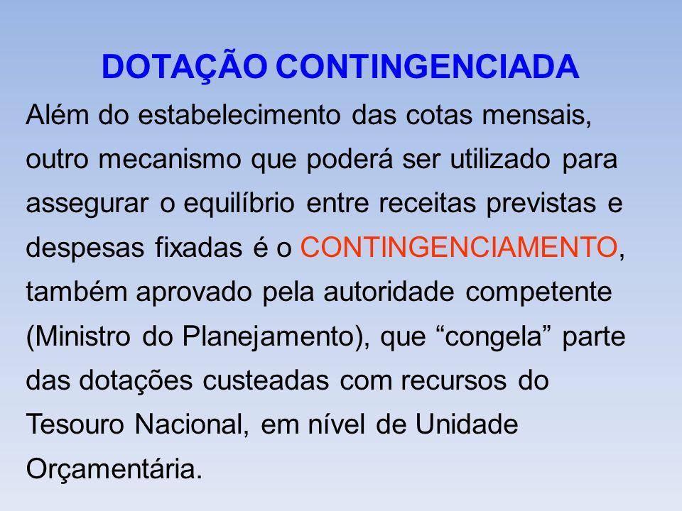 DOTAÇÃO CONTINGENCIADA