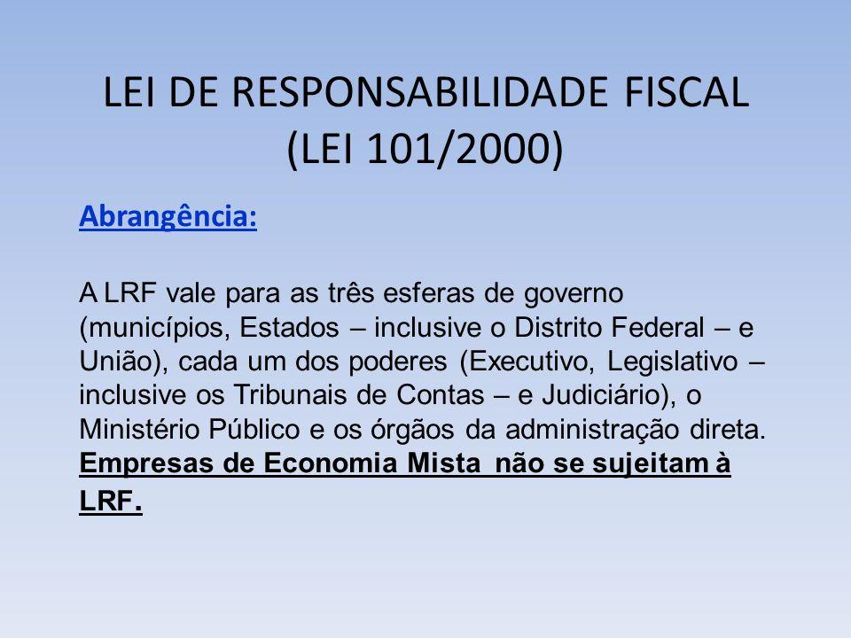 LEI DE RESPONSABILIDADE FISCAL (LEI 101/2000)