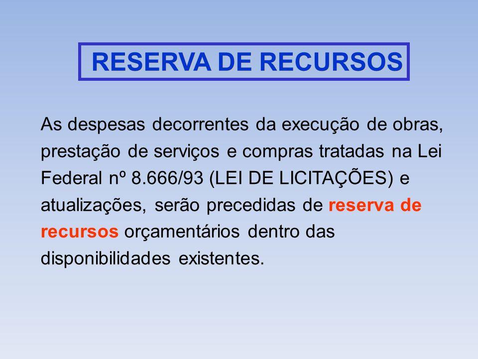 RESERVA DE RECURSOS