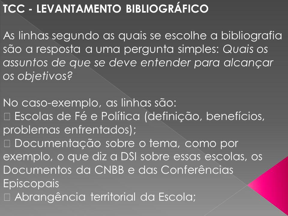 TCC - LEVANTAMENTO BIBLIOGRÁFICO