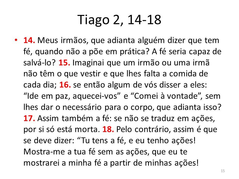 Tiago 2, 14-18