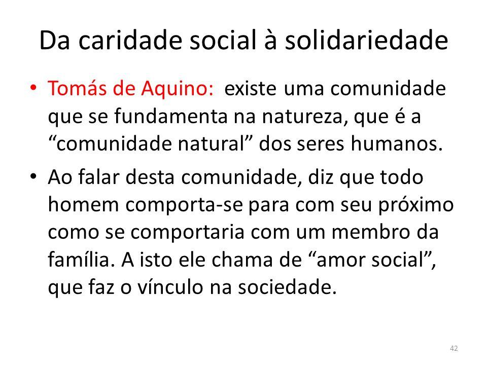 Da caridade social à solidariedade