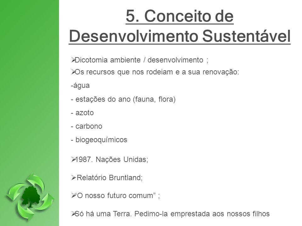 5. Conceito de Desenvolvimento Sustentável