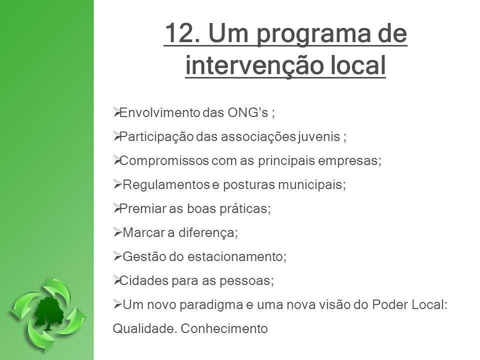12. Um programa de intervenção local