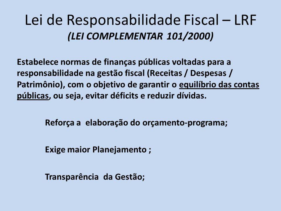 Lei de Responsabilidade Fiscal – LRF