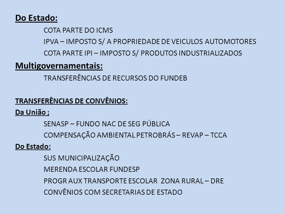 Multigovernamentais: