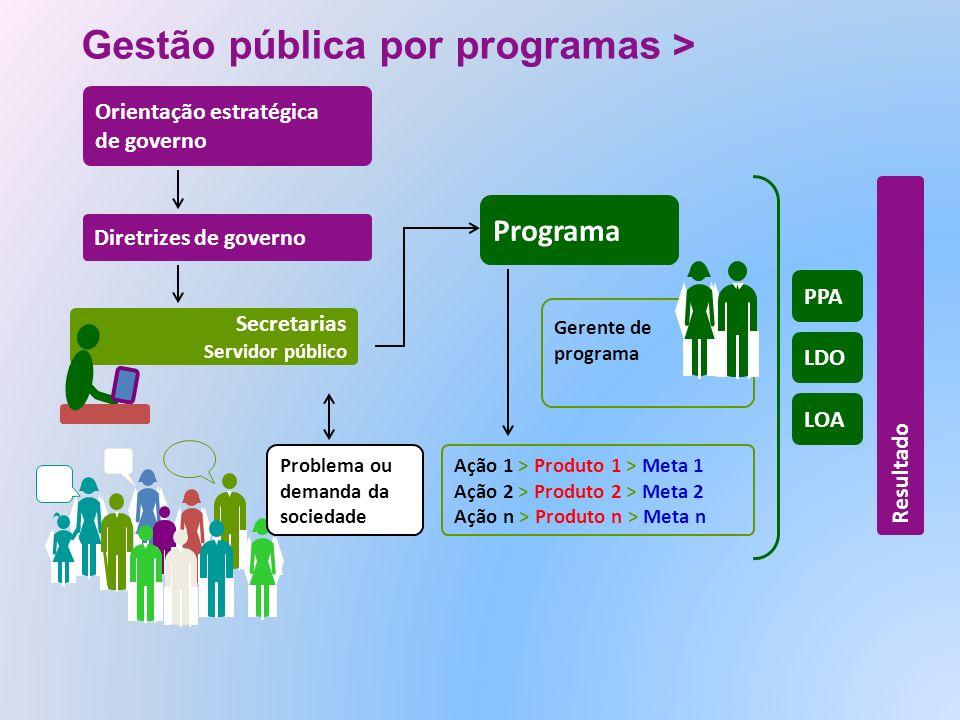 Gestão pública por programas >
