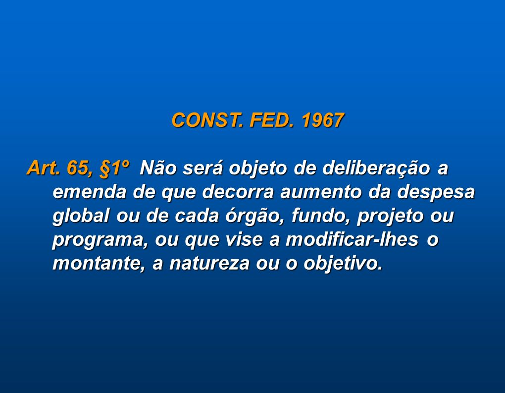CONST. FED. 1967
