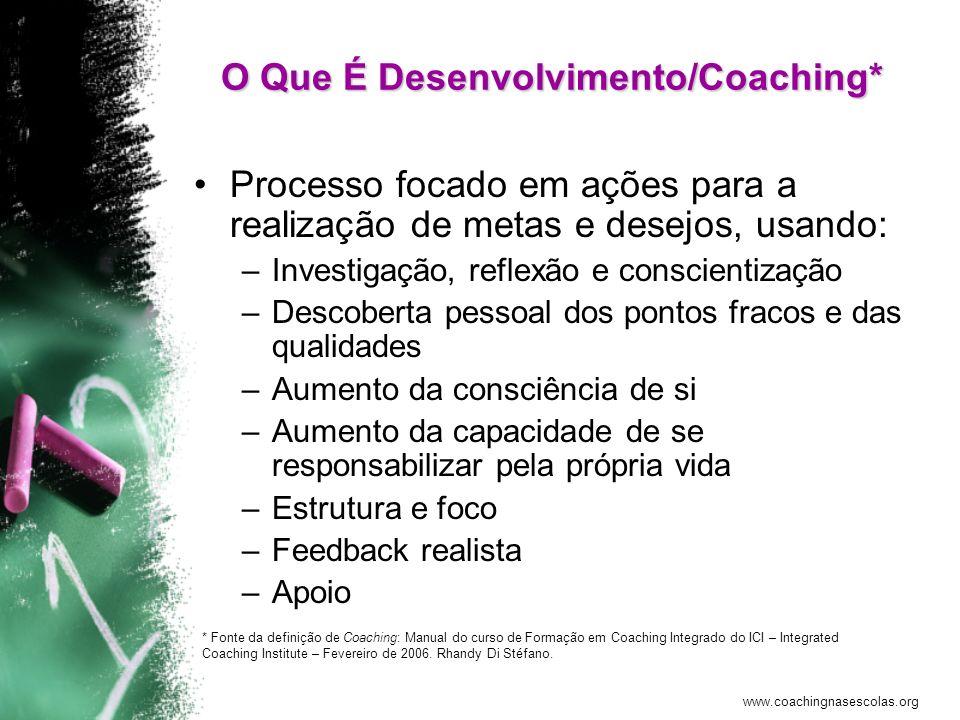 O Que É Desenvolvimento/Coaching*