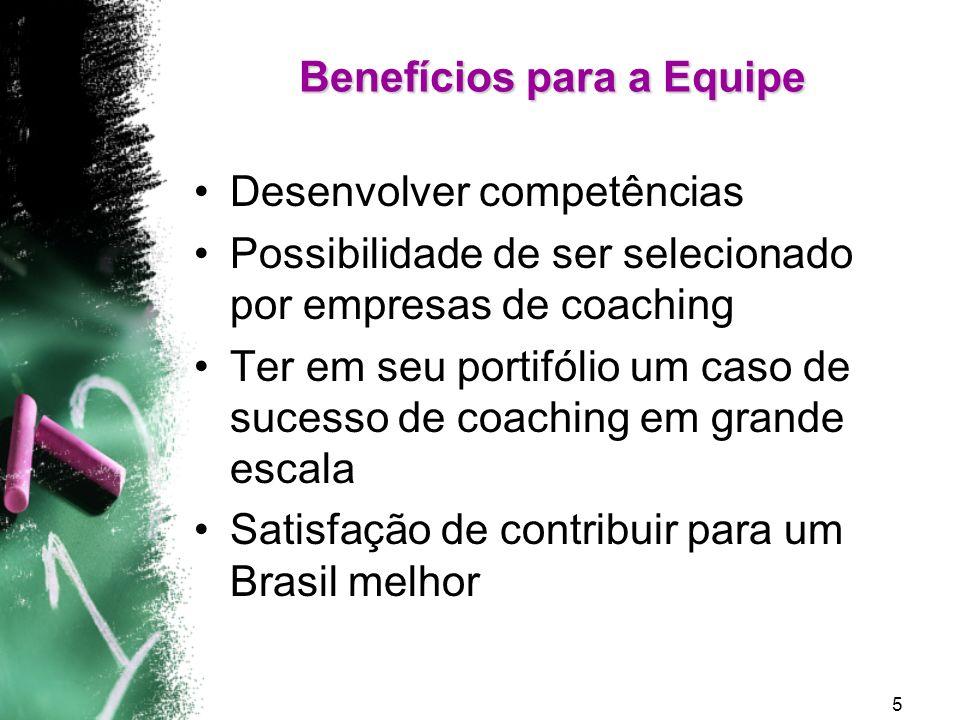 Benefícios para a Equipe