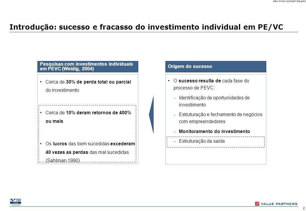 Introdução: sucesso e fracasso do investimento individual em PE/VC