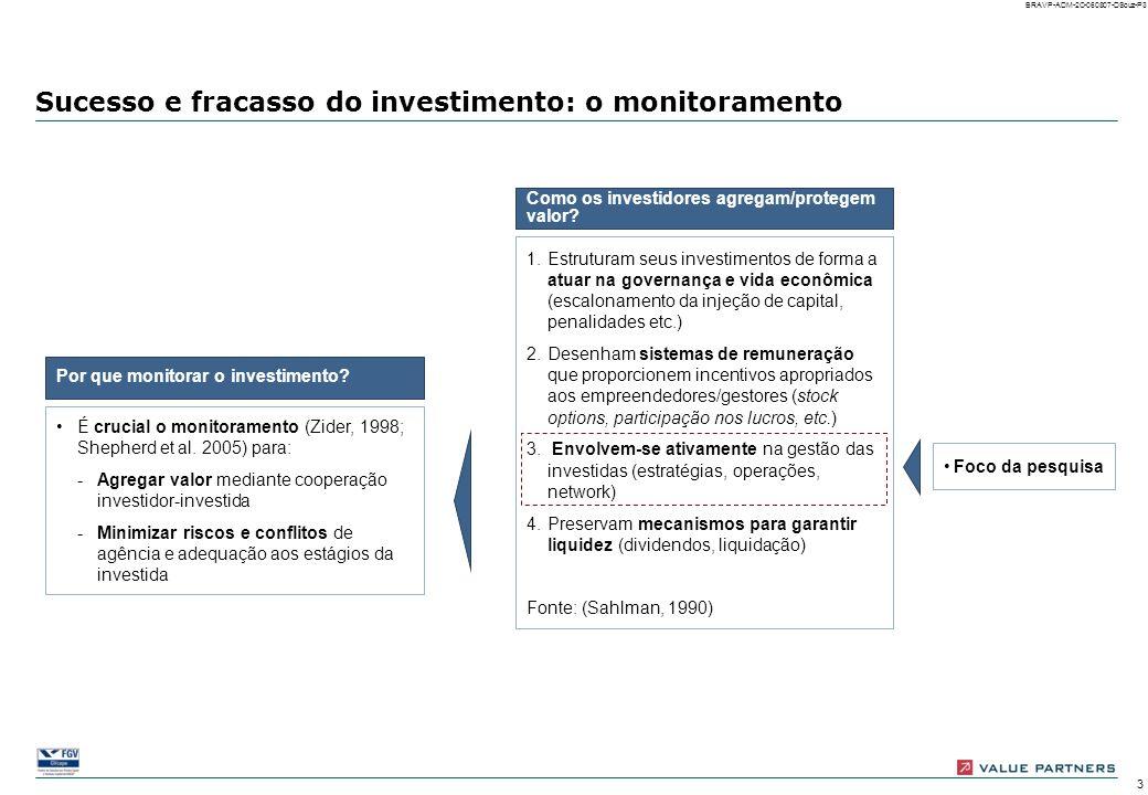 Sucesso e fracasso do investimento: o monitoramento