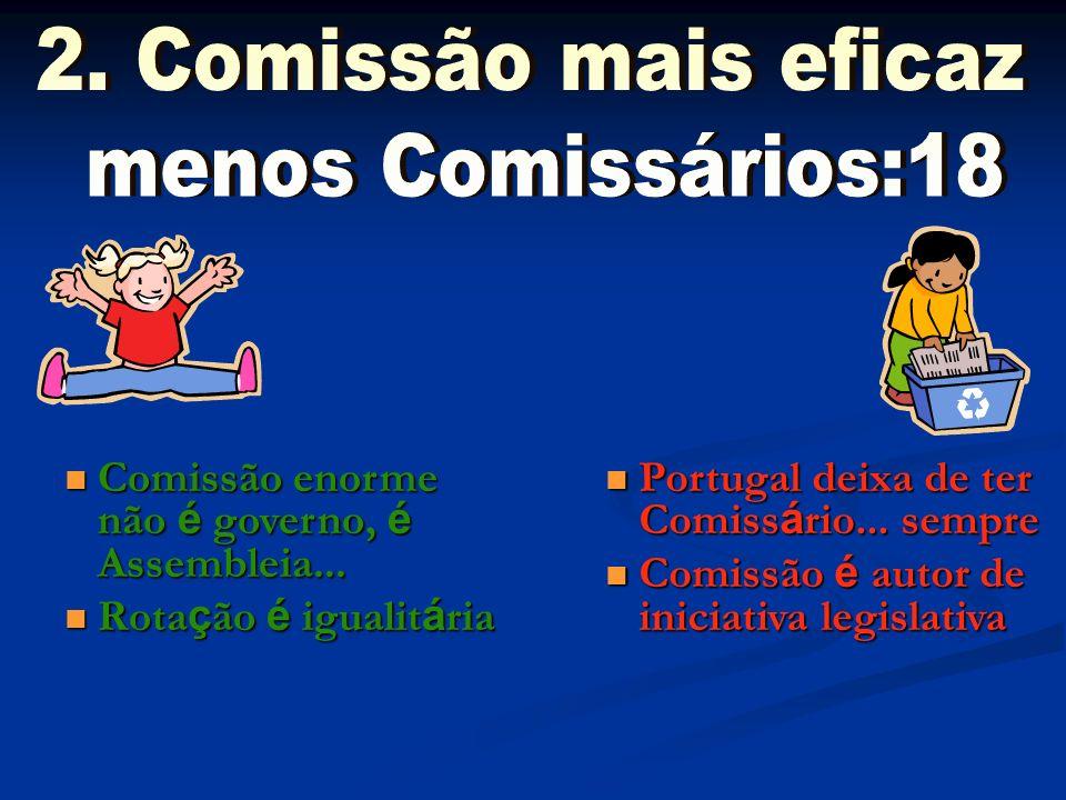 2. Comissão mais eficaz menos Comissários:18