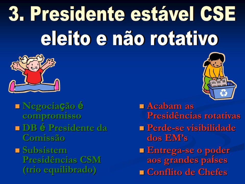 3. Presidente estável CSE eleito e não rotativo