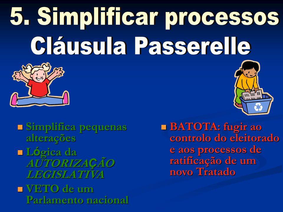 5. Simplificar processos Cláusula Passerelle