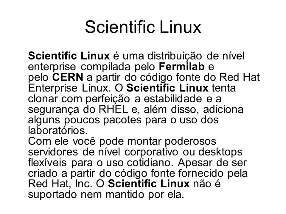 Scientific Linux