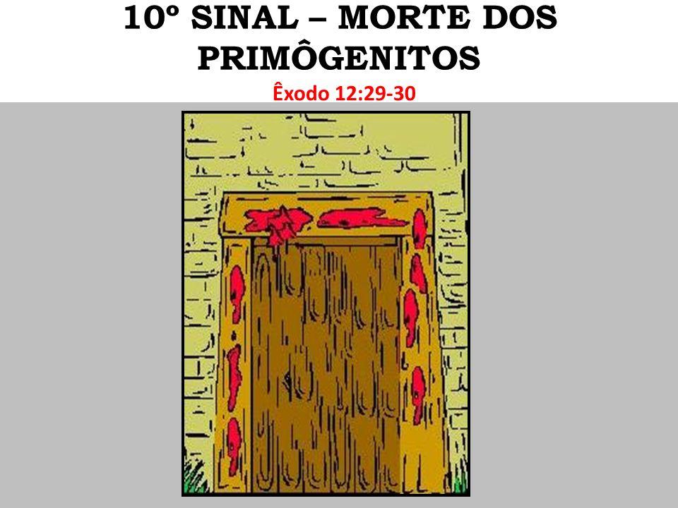 10º SINAL – MORTE DOS PRIMÔGENITOS
