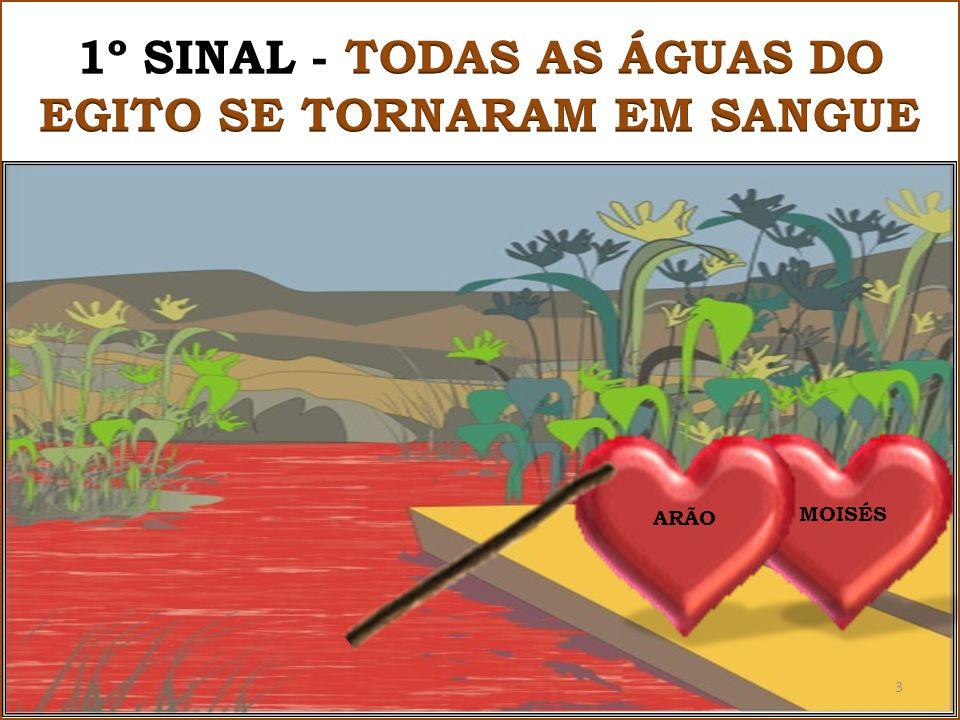 1º SINAL - TODAS AS ÁGUAS DO EGITO SE TORNARAM EM SANGUE