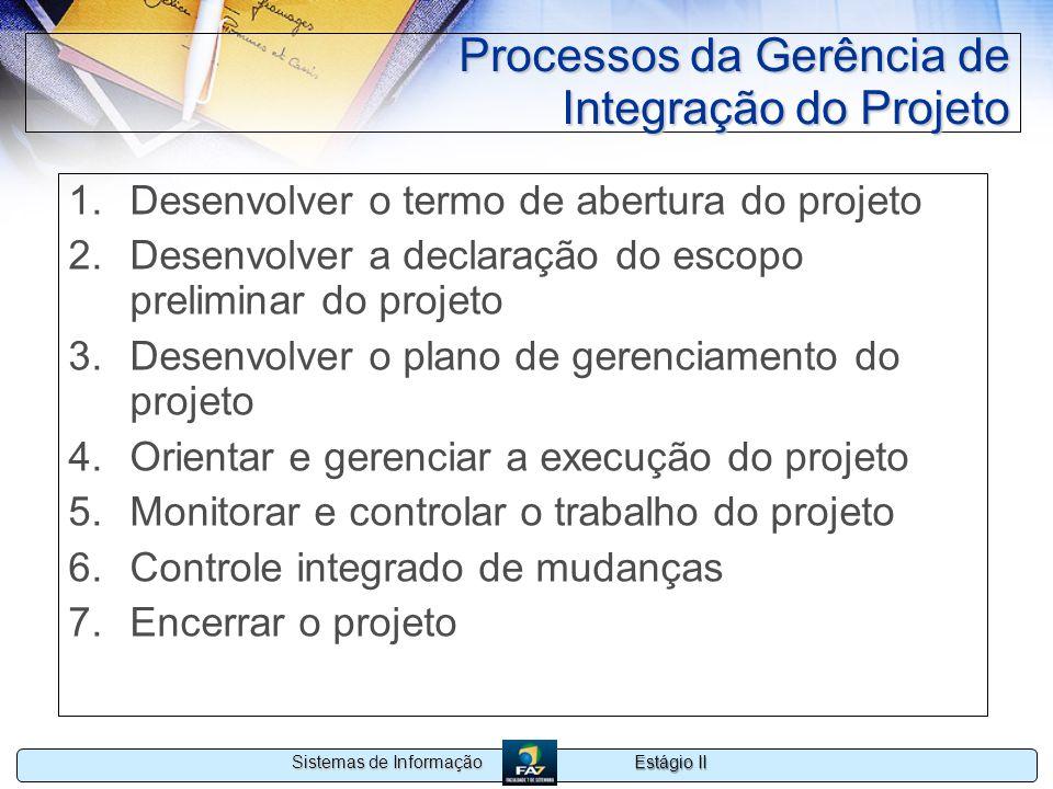 Processos da Gerência de Integração do Projeto