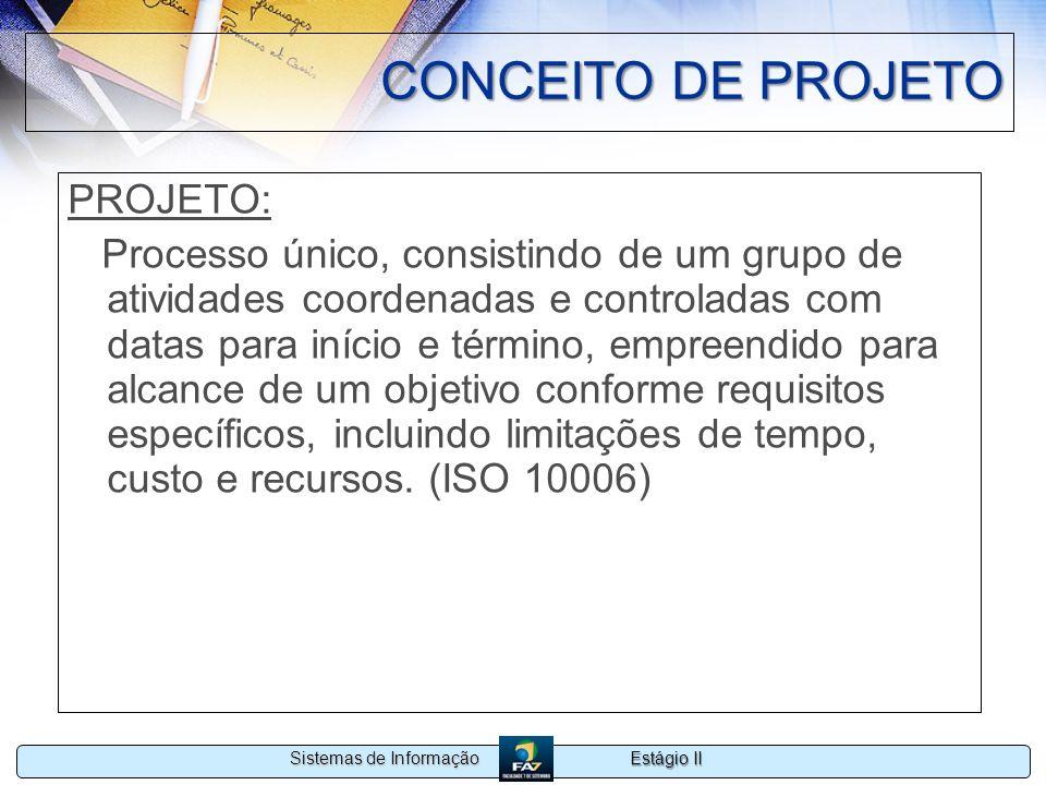 CONCEITO DE PROJETO PROJETO: