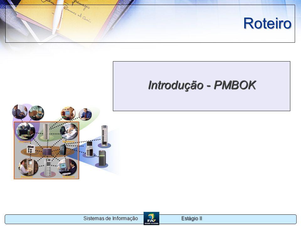 Roteiro Introdução - PMBOK