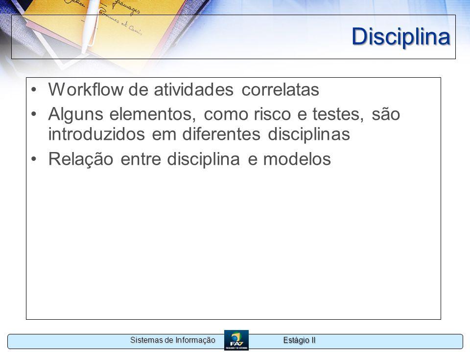 Disciplina Workflow de atividades correlatas
