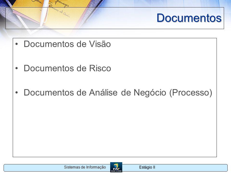 Documentos Documentos de Visão Documentos de Risco