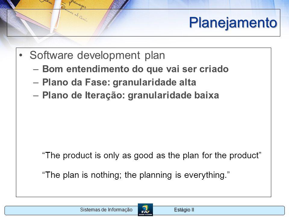 Planejamento Software development plan