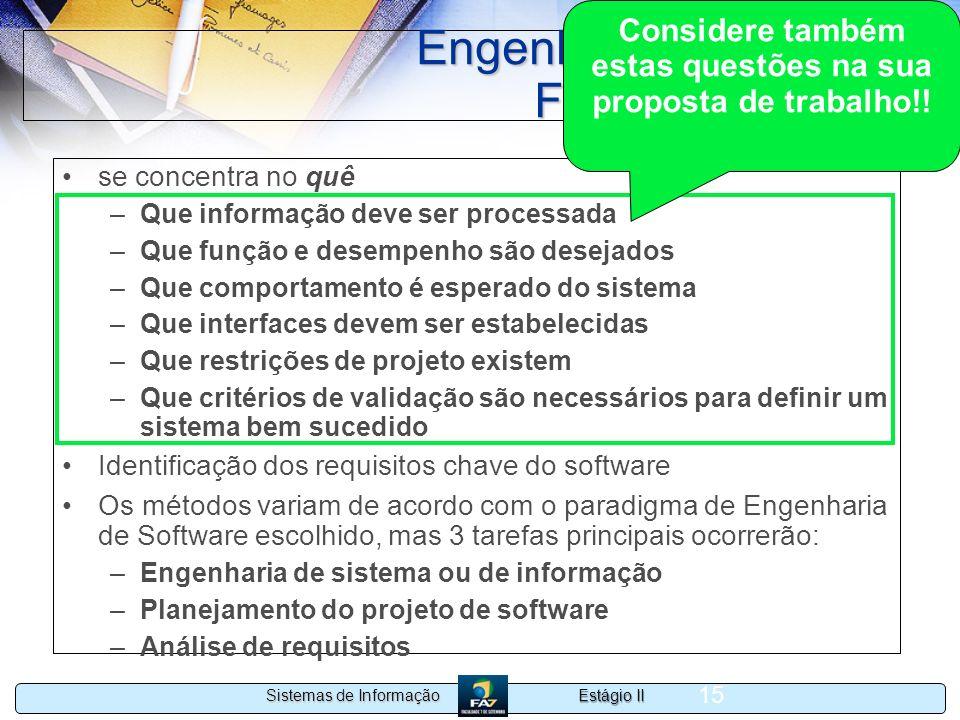 Engenharia de software Fase de Definição
