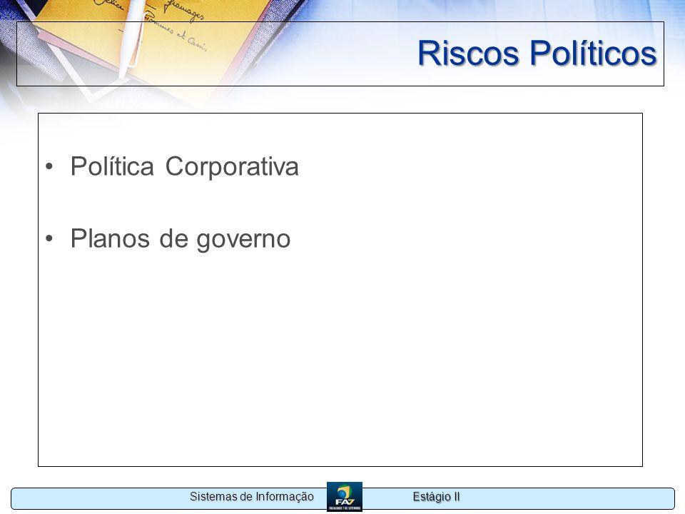 Riscos Políticos Política Corporativa Planos de governo