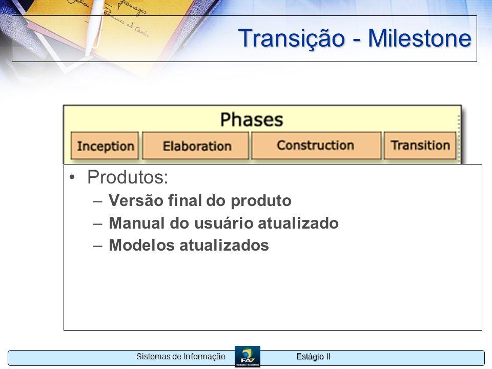 Transição - Milestone Produtos: Versão final do produto