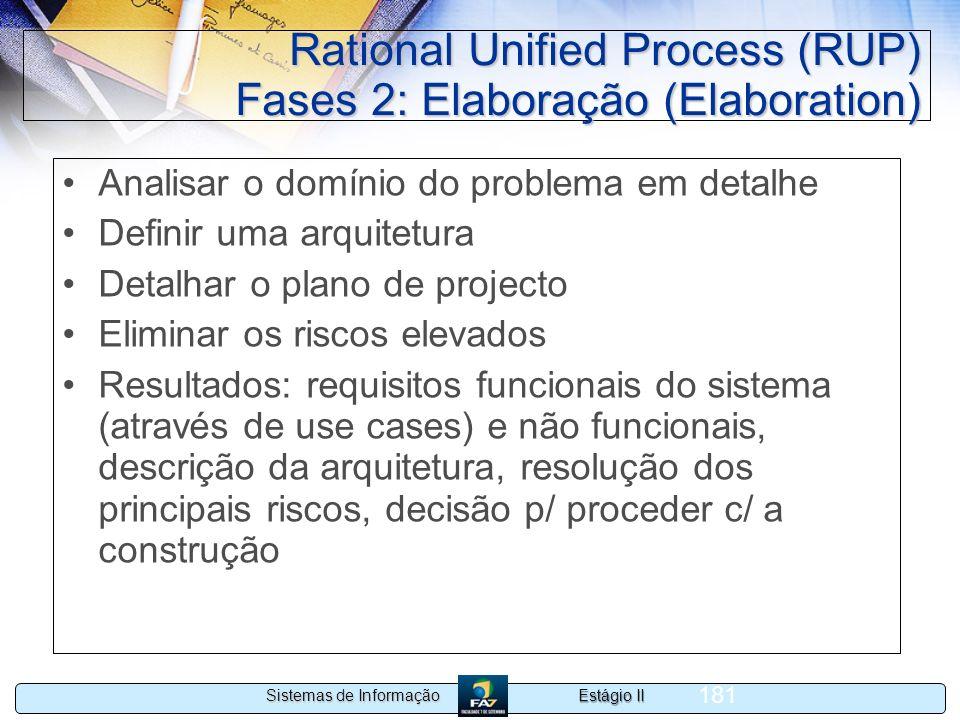 Rational Unified Process (RUP) Fases 2: Elaboração (Elaboration)