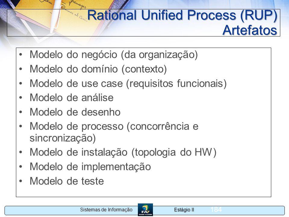 Rational Unified Process (RUP) Artefatos