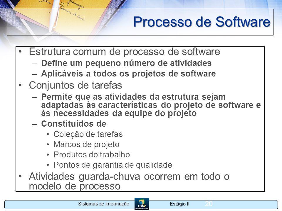 Processo de Software Estrutura comum de processo de software