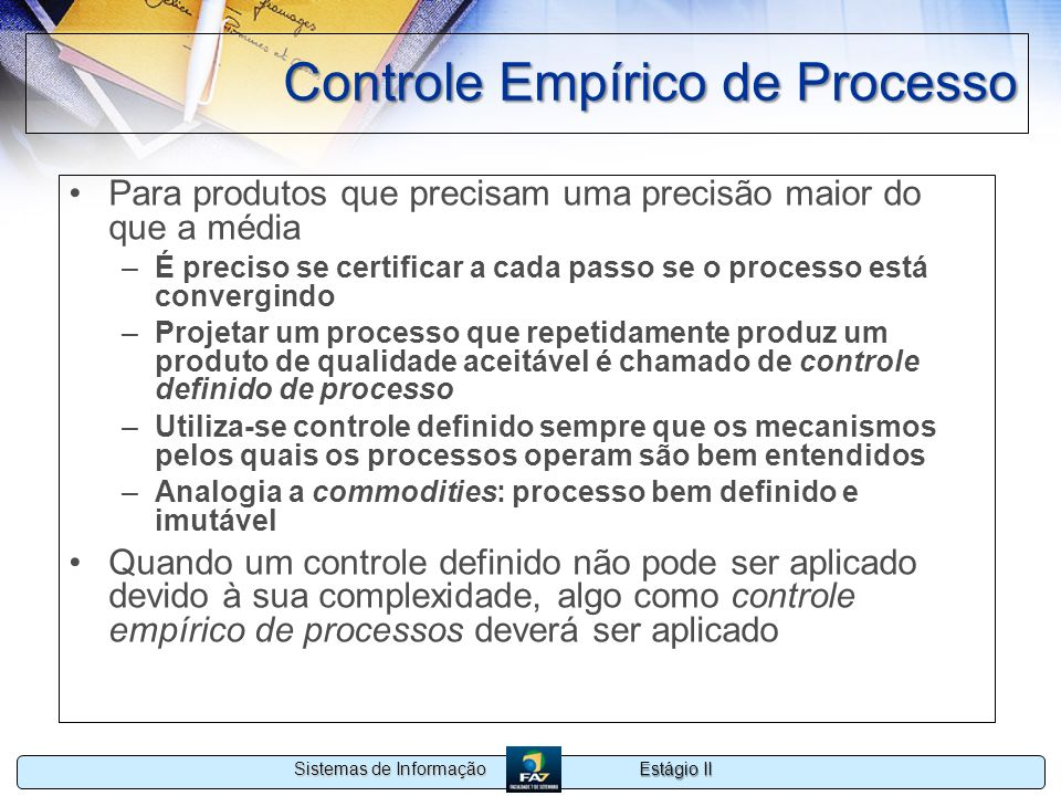 Controle Empírico de Processo
