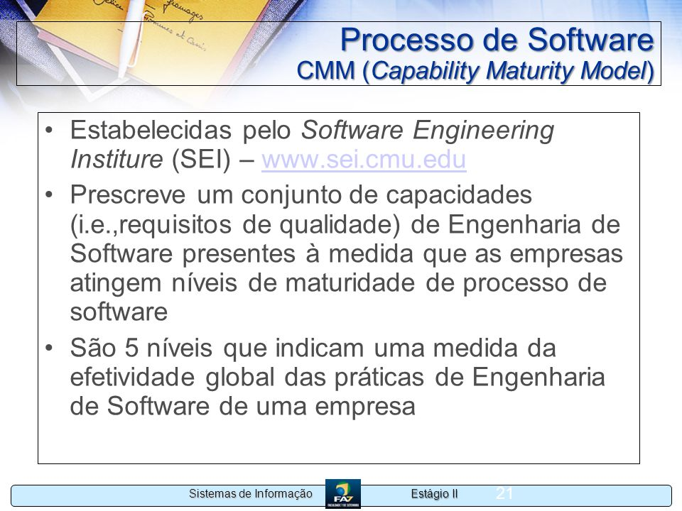 Processo de Software CMM (Capability Maturity Model)
