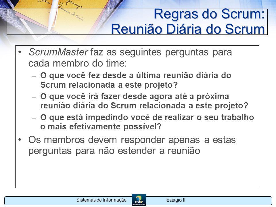 Regras do Scrum: Reunião Diária do Scrum